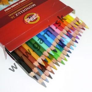 akvarelové pastelové ceruzky umelecké MONDELUZ, sada 36 ks