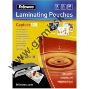 laminovacia fólia, 54x86mm, FELLOWES, 125 mikr., 100ks/bal.