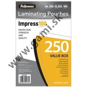 laminovacia fólia A4, FELLOWES, 100 mikr., 250ks/bal.