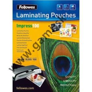 laminovacia fólia A3, FELLOWES, 100 mikr., 1ks