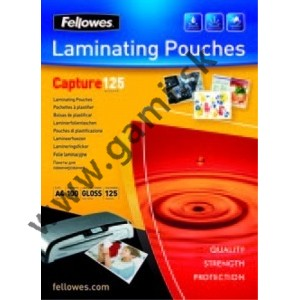 laminovacia fólia A4, FELLOWES, 125 mikr., 25ks/bal.