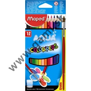 pastelky akvarelové MAPED Color Peps so štetcom, sada 12ks