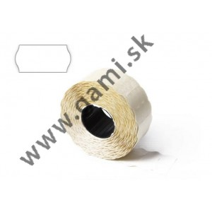 cenovkové etikety 25x12mm, biele