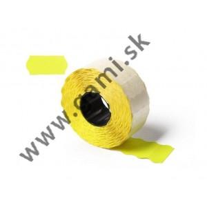 cenovkové etikety 25x16mm, žlté
