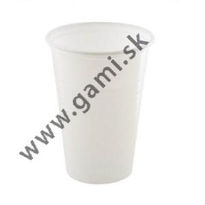 plastový pohár  biely, 200ml, 100ks/bal.