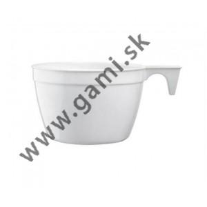 plastová kávová šálka, s uškom, 165 ml, 25 ks/bal