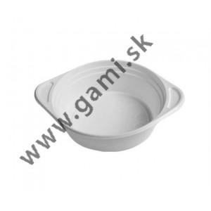 plastová miska na polievku 500ml, biela, 50ks/bal