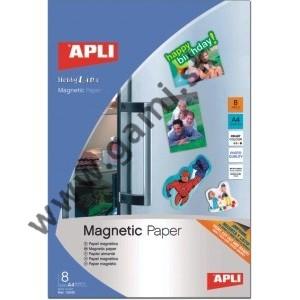 fotopapier magnetický A4, APLI, 8 hárkov/bal.