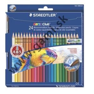 akvarelové pastelky STAEDTLER so štetcom, 24ks/bal.