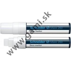 popisovač kriedový Schneider Maxx 260, 5-15mm, biely