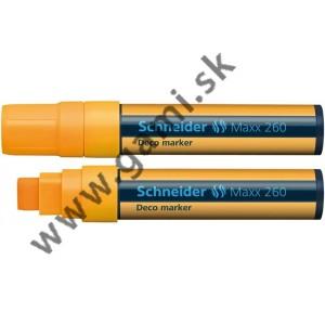 popisovač kriedový Schneider Maxx 260, 5-15mm, oranžový