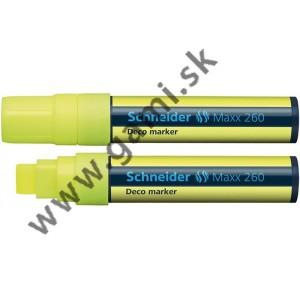 popisovač kriedový Schneider Maxx 260, 5-15mm, žltý