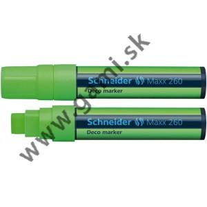 popisovač kriedový Schneider Maxx 260, 5-15mm, zelený