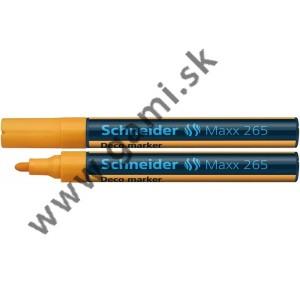 popisovač kriedový Schneider Maxx 265, 2-3mm, oranžový