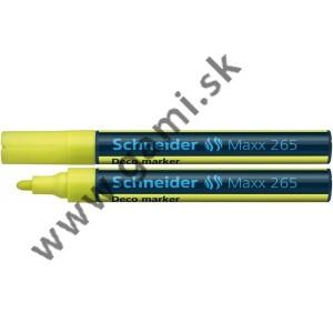 popisovač kriedový Schneider Maxx 265, 2-3mm, žltý