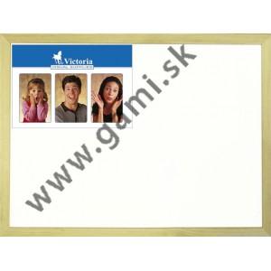 biela tabuľa nemagnetická, v drevenom ráme, 40 x 60 cm