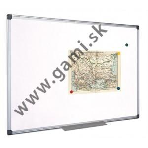 biela tabuľa magnetická, zotierateľná, hliníkový rám, 90x180 cm