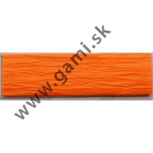 krepový papier, 50x200 cm, neónovo oranžová