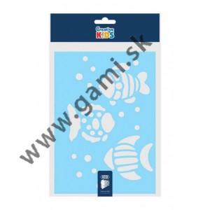 kreatívna šablóna plastová, ryba