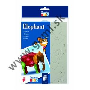 kreatívna 3D skladačka, model slon, 11x8x9cm