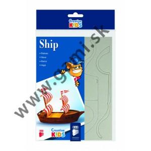 kreatívna skladačka, lodička, 10x21,5x10cm