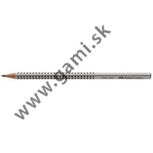 ceruzka Faber-Castell Grip 2001/2H, strieborná