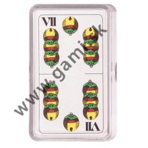 hracie karty - Sedmové v plastovom boxe