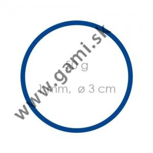 gumičky modré, priemer 3cm, 50g/bal.
