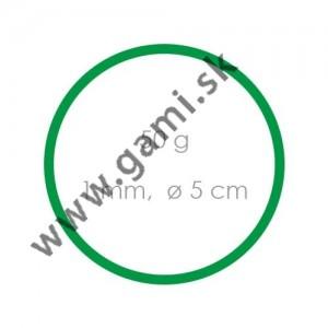 gumičky zelené, priemer 5cm, 50g/bal.
