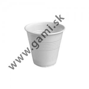 plastový pohár  biely, 80ml, 100ks/bal.