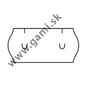 cenovkové etikety UNI 26x12 biela