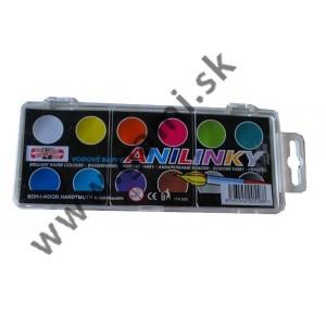 farby brilantné, 12 farieb, 22mm - ANILINKY