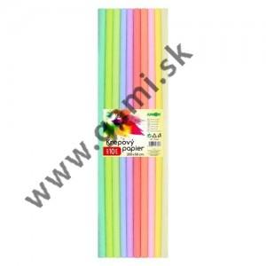 krepový papier PASTEL, 50x200cm, sada 10ks