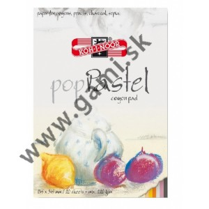 blok papierov popPastel, pre ceruzky, uhol, sépiu