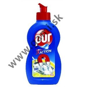 čistiaci prostriedok na umývanie riadu PUR extra, citrón, 450 ml