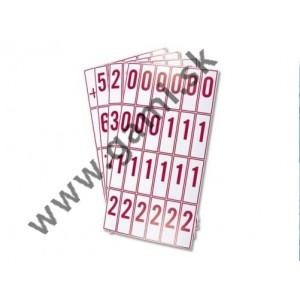 karty s číslami a písmenami pre 1.ročník