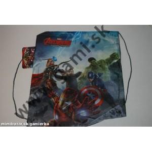 školské vrecko na prezuvky Avengers, 39x31cm