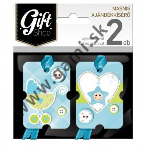 darčekové kartičky k narodeniu chlapčeka, 2ks/bal