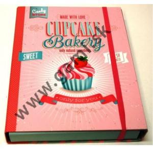 box na zošity A4, chrbát 4cm, CUPCAKE Bakery