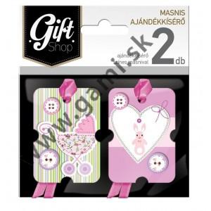 darčekové kartičky k narodeniu dievčatka, 2ks/bal