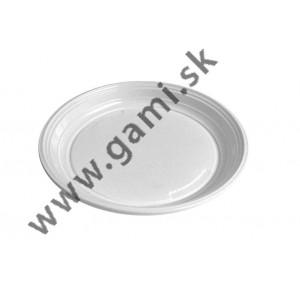 plastový tanier, priemer 21cm, 100ks/bal