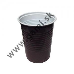 plastový pohár  hnedý-kávový, 200ml, 100ks/bal.