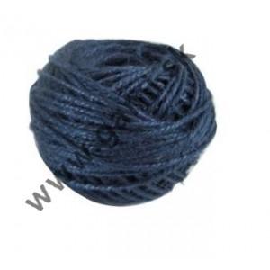 špagát jutový, 100% JUTA, farebný, 100g, dĺžka cca. 67m, modrý