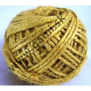 špagát jutový, 100% JUTA, farebný, 100g, dĺžka cca. 67m, žltý