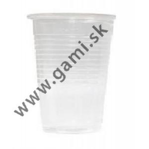 pohár plastový priehľadný, 300ml, 50ks/bal.